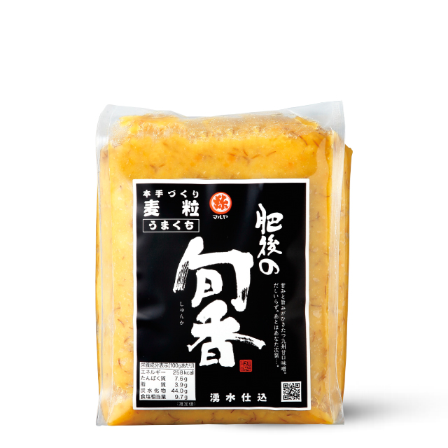 手作り味噌【肥後の旬香(しゅんか)】麦粒みそ1kgガゼット袋