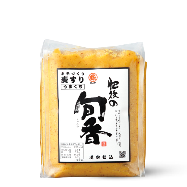 手作り味噌【肥後の旬香(しゅんか)】麦すりみそ1kgガゼット袋